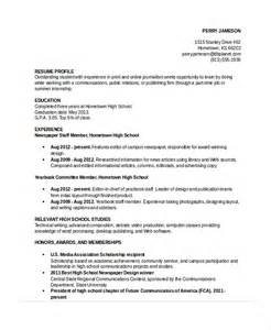 Sle Resume For High School Student by Resume To Participate In A Debate