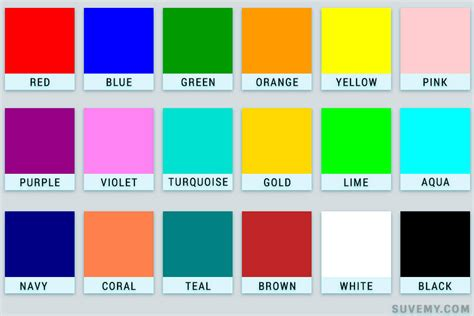 best colour names colors name in english the most popular and best 183 suvemy