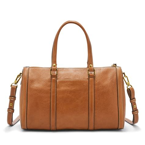 Fossil Kendal Anyam Brown kendall satchel fossil
