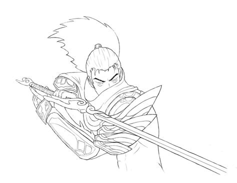 Yasuo Drawing Easy yasuo how to draw easy drawing sketch coloring page