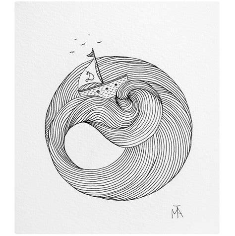 boat waves drawing boat waves lines tattoo idea minimal sketch drawing