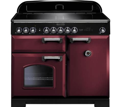 kitchen couture deluxe induction cooker rangemaster classic deluxe 100 electric induction range cooker cranberry chrome cranberry