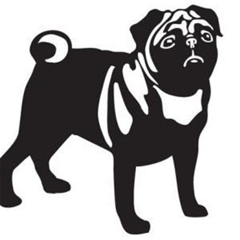 pug decal pug dogs wall decal high quality vinyl wall window decals sticker on luulla