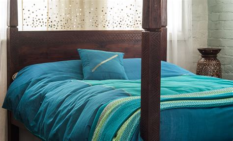 Turquoise Quilt Cover by Hyderabad Kingfisher Turquoise Duvet Cover Bed