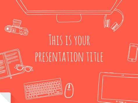 Free Templates For Powerpoint Or Google Slides Technotes Themes For Presentation Slides Free