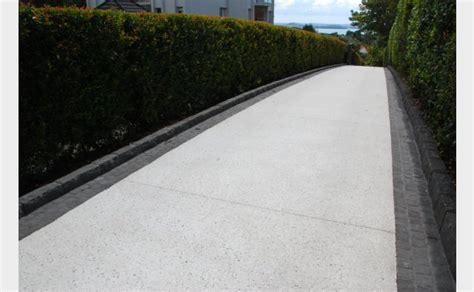 White Rock Driveway Fell Coloured Concrete White Cement White