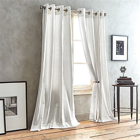 dkny curtains drapes dkny city line grommet top window curtain panel bed bath