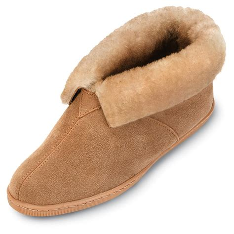 mens boot slippers s minnetonka moccasins 174 sheepskin ankle boots