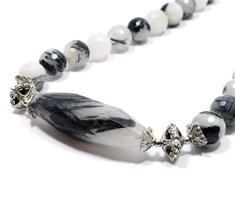 Handmade Gemstone Jewellery - tourmalated quartz big skies jewellery