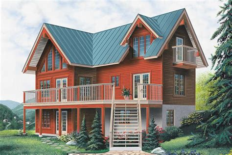 vacation cottage plans four season vacation home 2170dr architectural designs house plans
