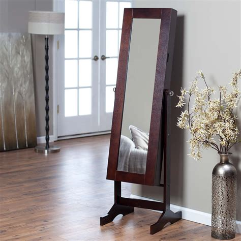 Modern Jewelry Armoire Cheval Mirror Espresso Mirrors At Hayneedle