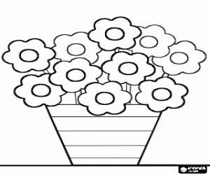 dibujos de macetas con flores para colorear juegos de flores para colorear imprimir y pintar