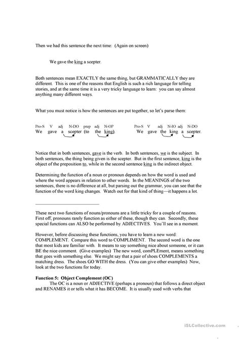 Subject Complement Worksheet With Answers by 100 Subject Complement Worksheet With Answers