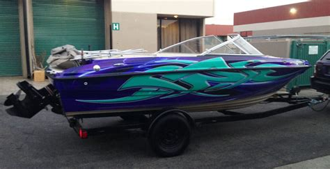 vinyl wrap boat console custom boat wrap for 18 foot bayliner monster image