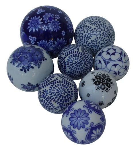 Ceramic Decorative Balls by Painted Decorative Ceramic Balls Set Of 8 Chairish