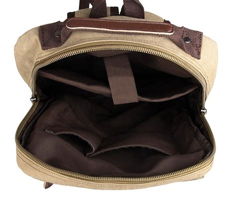 Fashion Bag Import Kg20527 Brown fashion durable canvas and leather laptop backpack bookbag