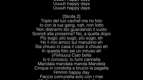 testo canzone happy ghali happy days lyrics testo
