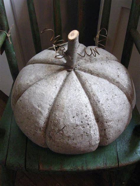 concrete pumpkin gardening pinterest