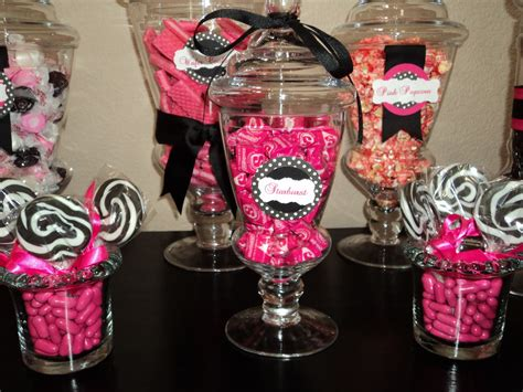 Pink And Black Buffet Spoonful Of Sugar Custom Candy Buffets Think Pink