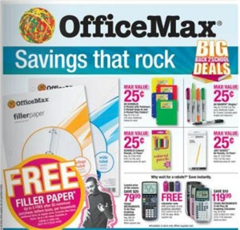 Office Max Sale Ad by Office Max Archives Frugal Coupon Living