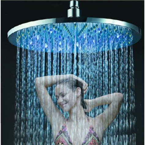 12 quot wall mount led shower copper shower