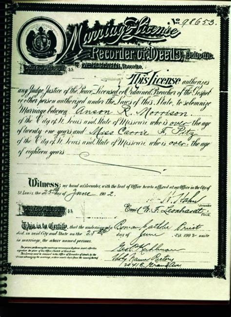 St Louis Mo Marriage Records Vital Records