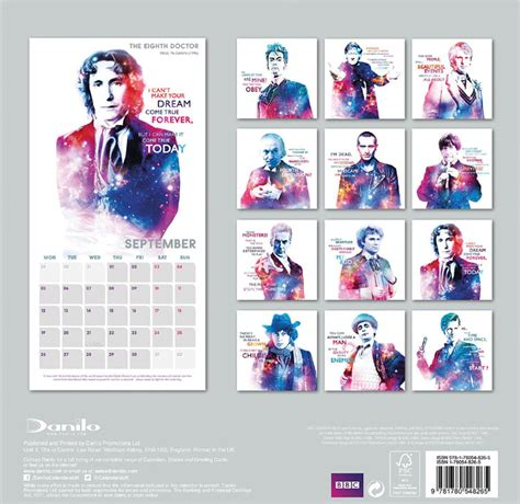 Calendario Doctor Who 2015 Doctor Who 2016 Doctors Of Our Time Calendar Merchandise