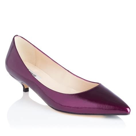 heels mini l k patent leather mini kitten heel shoes in