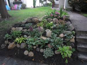 Rock Garden Ideas For Small Yards Backyard Landscaping Ideas For Small Yards With Various Herb Plants Sloping Garden And Rocks