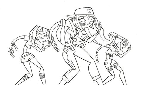 total drama island coloring pages coloring home