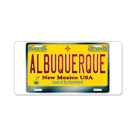 New Plates Are by Quot Albuquerque Quot New Mexico License Plate Aluminum Li By