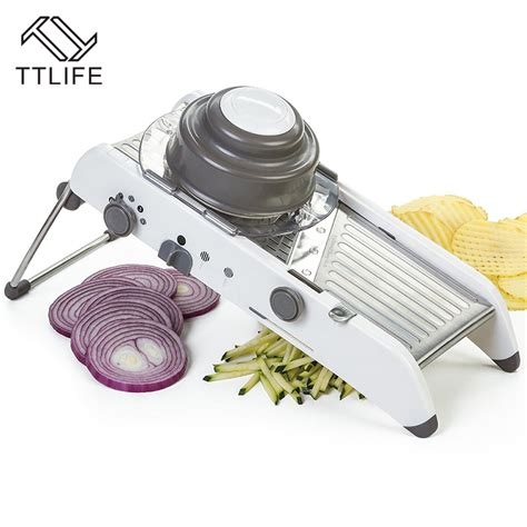 Kitchen Master Stainless Steel Vegetable Slicer Aliexpress Buy Ttlife Adjustable Mandoline Slicer