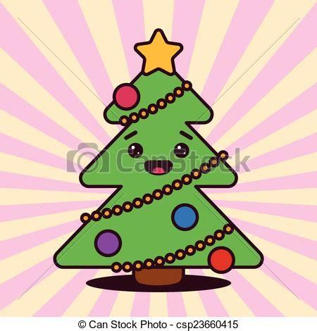 imagenes de arboles de navidad kawaii vector clip art de kawaii navidad 225 rbol con sonriente