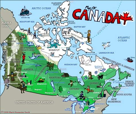 Canada Quiz   Image of the map of Canada   Easy Science