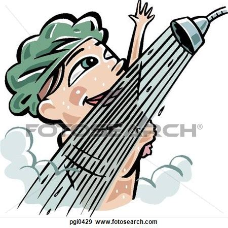 Shower Clipart by Taking A Shower Clipart