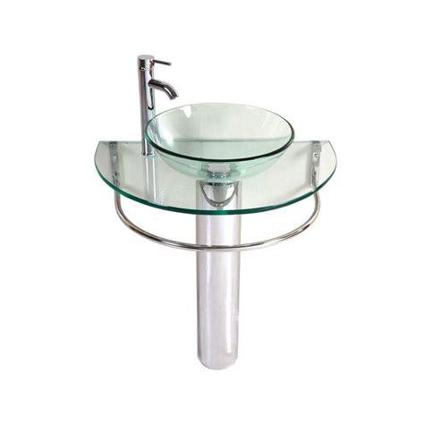 clear bathroom sink kokols kailash pedestal combo bathroom sink in clear wf 01