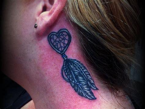 small dreamcatcher tattoo behind ear 28 small dreamcatcher ear dreamcatcher