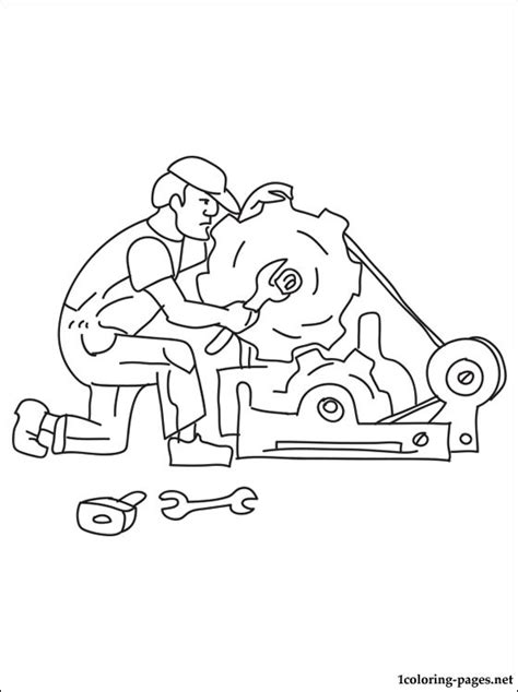 mechanic coloring page coloring pages