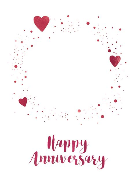 hearts  dots happy anniversary card   island