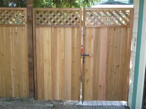 lattice double gate wooden gates fences fence