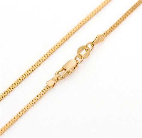 largo de cadenas para hombre largo 60cm 18k chapado en oro amarillo cubano de miami de