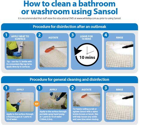 bathroom cleaning procedure bathroom cleaners shower cleaners