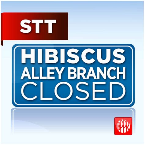 banco popular hours hibiscus alley branch closed for maintenance purposes