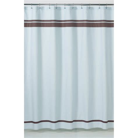 shower curtain blue and brown sweet jojo designs blue and brown hotel shower curtain