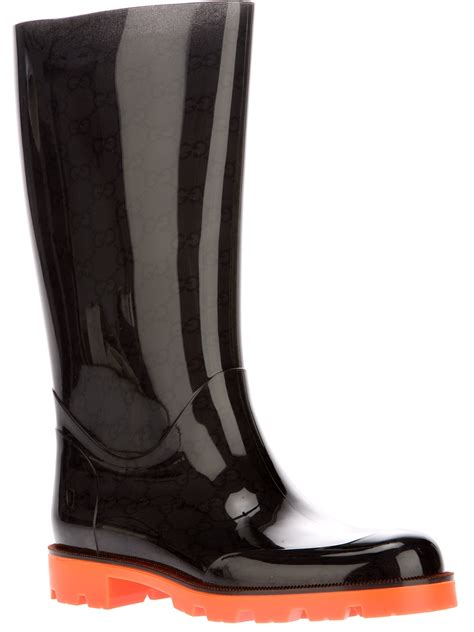 black gucci boots for lyst gucci edimburg boot in black