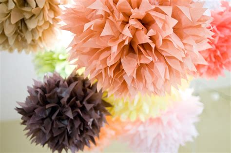 Tissue Paper Pom Poms - doing it in style diy tissue paper pom pom decorations