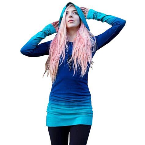 Hoodie Jumper Slank 1 hoodie blue ombre sweatshirt causal rock purple sleeve gradient tracksuits