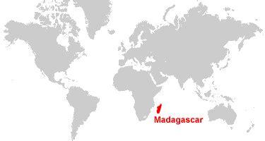 madagascar map  satellite image