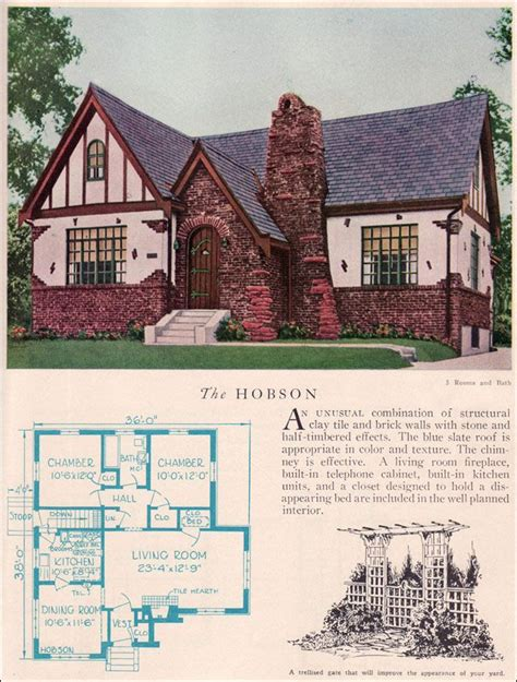 Tudor House Plans 1920 S | tudor revival cottage house plans