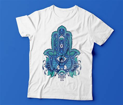 adobe illustrator t shirt template design an eye catching hamsa t shirt in adobe illustrator
